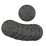GreeStore 50 almohadillas de malla para maceta, drenaje de jardín, malla con agujeros de malla transpirable, para bonsái, 4,5 cm