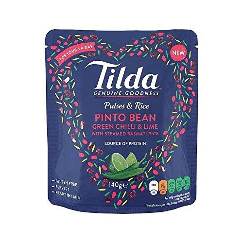 Tilda Impulse & Reis Pinto Bohnen, Chili-Limetten-140G - Packung mit 4