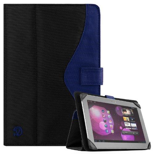 SOHO Portfolio Stand Nylon Detachable Flip Cover Case Royal Blue for Asus Transformer Pad 10.1 Tablets TF300TL, TF300T, TF700T, TF101