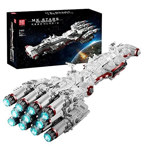 KEAYO Technik Raumkreuzer Modell, Mould King 21003, 2905 Teile Groß UCS Sternenkreuzer MOC Klemmbausteine Bauset Kompatibel mit Lego