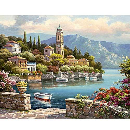 DIY pintura por número kits de pintura de lienzo paisaje regalo único arte de pared imagen obras de arte decoración del hogar A3 50x65cm
