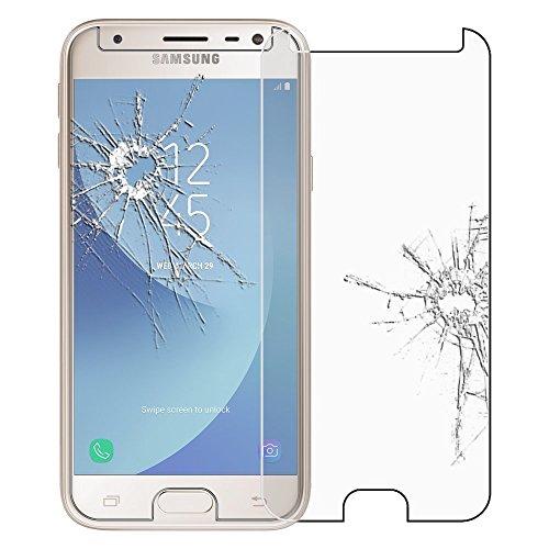 HQ-CLOUD® Film Vitre Verre Trempé de Protection d'écran pour Samsung Galaxy J5 2017 - Transparent
