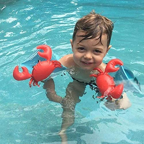 Tuzi Qiuge Schwimmen Floats, aufblasbare Kinder Red Crabs Form Arm Bands Floatation Sleeves Schwimmflügel Schwimmen Floats, Größe: 16x20x15cm QiuGe