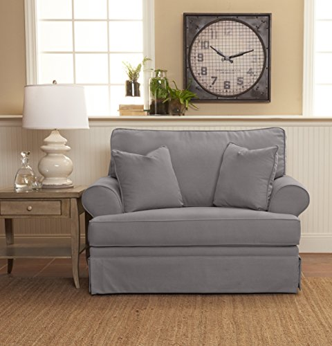 """Klaussner Furniture Westlyn Oversized Chair with Throw Pillows, 8"""", Sand"""