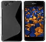 mumbi Hülle kompatibel mit Sony Xperia Z1 Handy Case Handyhülle, schwarz