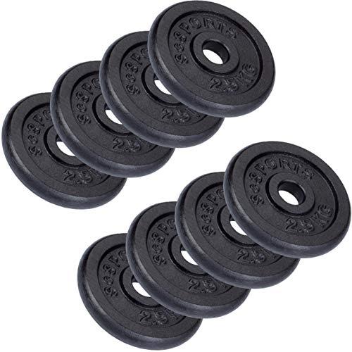 ScSPORTS 20 kg Hantelscheiben-Set 8 x 2,5 kg Gusseisen Gewichte 30/31 mm Bohrung, durch Intertek geprüft + bestanden (1)