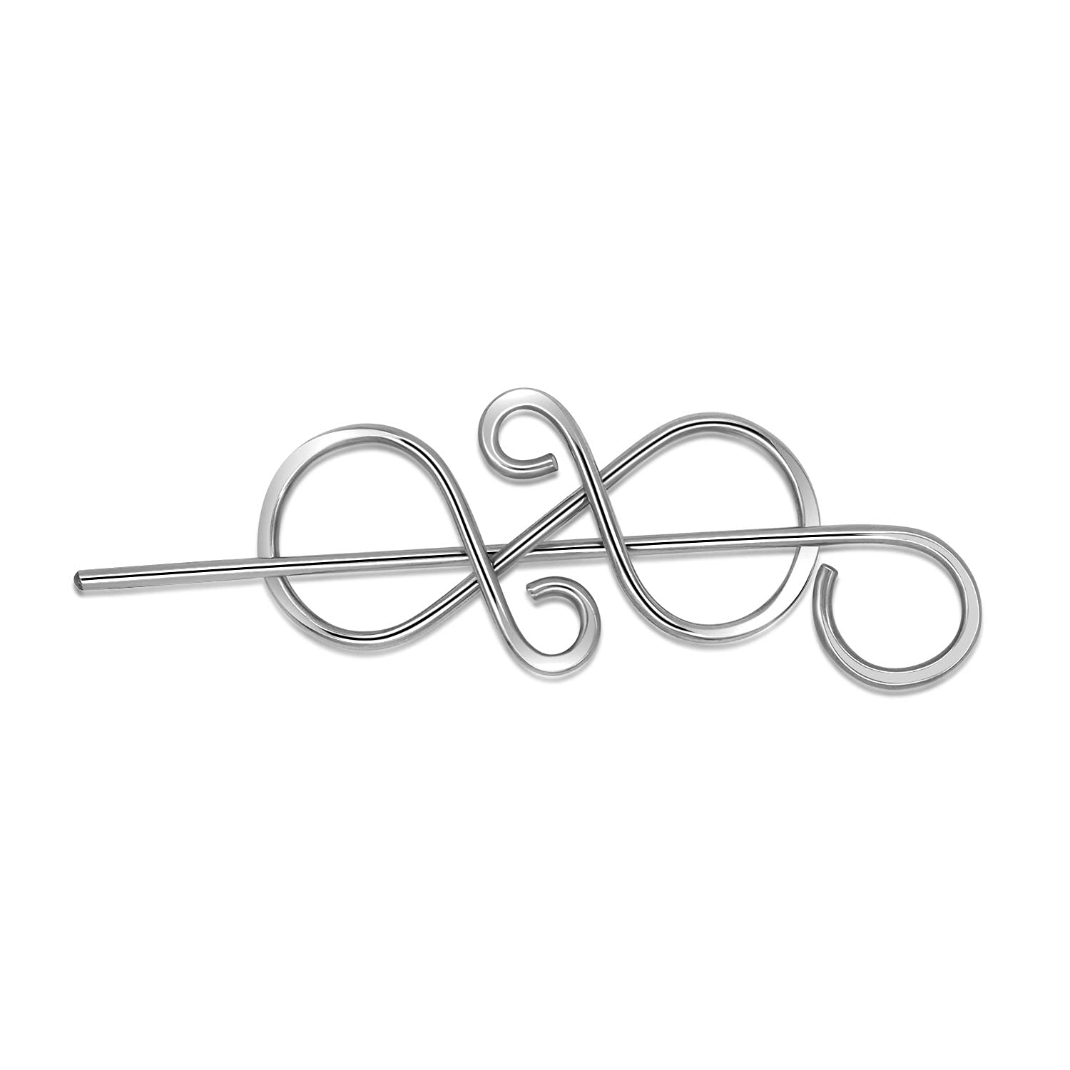 Outstanding Celtic safety Sweater Pin Hair Clip Leat Silver Pins Bow