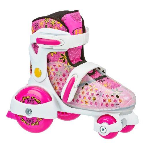 Roller Derby Girl's Fun Roll Adjustable Roller Skate, Medium(11-2)