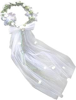 Plage Mariage Fleur Voile Cheveux Guirlande Couronne Bandeau Floral Guirlande de coiffure