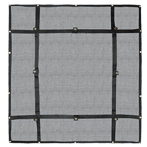 Truck Bed Cargo Net Organizer 475#039x 6#039 | Heavy Duty Bungee Webbing Adjustable amp Rip Proof Mesh with Grommet Anchoring Points amp Tarp | for Pickup Trucks Trailers Vans Boats amp More