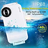 FSBMIN Funda Sumergible a Prueba de Agua para iPhone XS/XS MAX Diving IP68 Funda Protectora Carcasa, Soporte a Prueba de Golpes a Prueba de Nieve Buceo en Aguas Profundas 40 m / 130 pies (XS)
