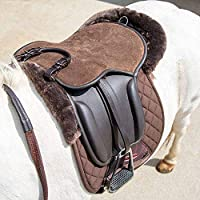 """A great little starter saddle for children, the Shires Aviemore leather saddle pad is hardwearing and comfortable. Featuring a suede seat, comfy knee rolls, rolled leather balance strap, stainless steel stirrup bars and stainless steel D-rings. 15.5""""..."""