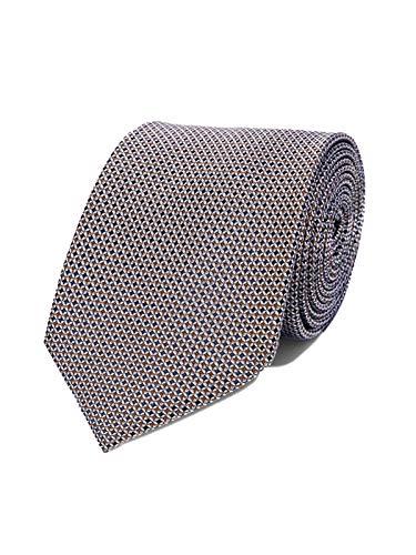 Bruce Field - Cravate en pure soie marine à puces