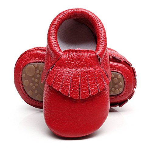 HONGTEYA Leather Baby Moccasins