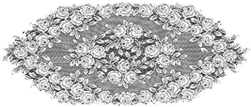 عداء برباط تي روز من هيرتج 35.56 سم × 91.44 سم، لون أبيض