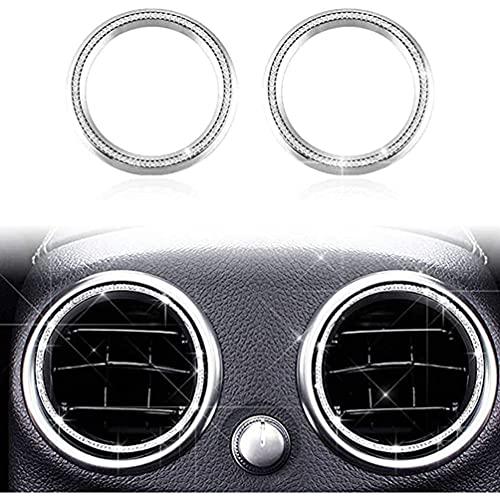 YFBB 2 uds, Arreglo de Cristal Brillante, Rejillas de ventilación de Fila Trasera Interna, Tapas de Estado, Cubiertas, calcomanías, Interiores, para Mercedes Benz W204 W166 X204 X166 Clase C