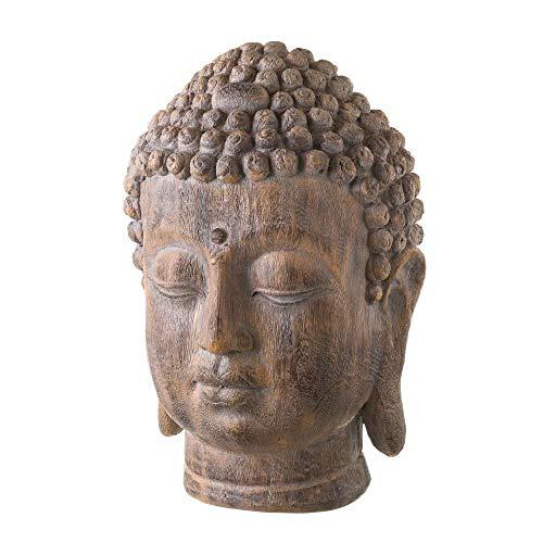 Cabeza de Buda marrón de Resina Oriental para salón Sol