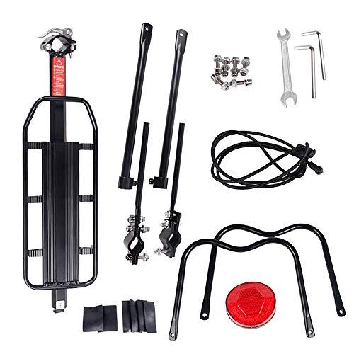 Portaequipajes De Bicicleta De Aleación De Aluminio, Accesorios Ajustables para Bicicletas Portaequipajes Trasero Universal Frame Montado Bicicletas Estante De Tija De Sillín 20-29 Pulgadas