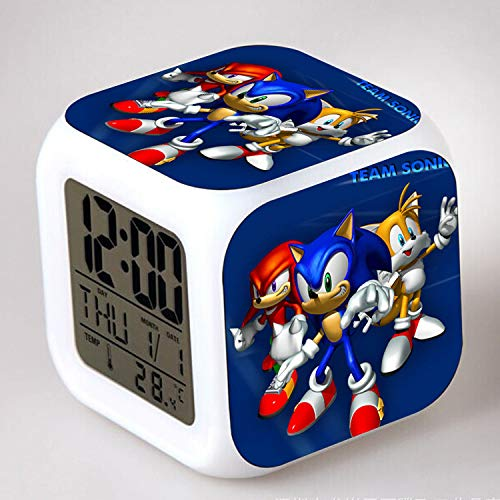 HHKX100822 Sonic Colorful Color Ing-Color Despertador Led Quad Clock Children's Creative Gift Small Alarm Clock 29