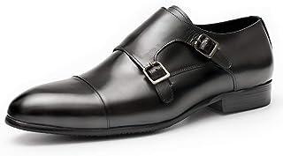 Chaussures Robe de mariée banquet,Chaussures Monk hommes Bureau d'affaires Chaussures en cuir Boucle Chaussures en cuir de...