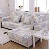 B/H Non Slip Furniture Protector for Pets,Four seasons floral checkered <span class='highlight'>sofa</span> cushions,double-sided cotton non-slip <span class='highlight'>sofa</span> cushions-gray_70×70,Pet Protector <span class='highlight'>Sofa</span> Slip Cover