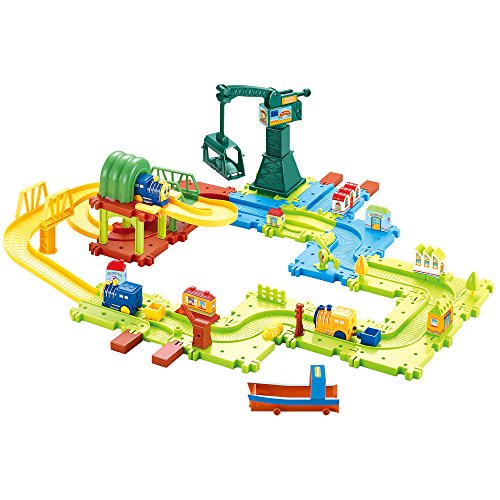 Hey Play 80-HM675793 Toy Train for Toddlers - 58 Piece