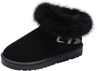 ZOSYNS Enkellaarzen voor dames, winter, sneeuwlaarzen, outdoor, wandelschoenen, katoenen schoenen, warm gevoerd, modieus, ...
