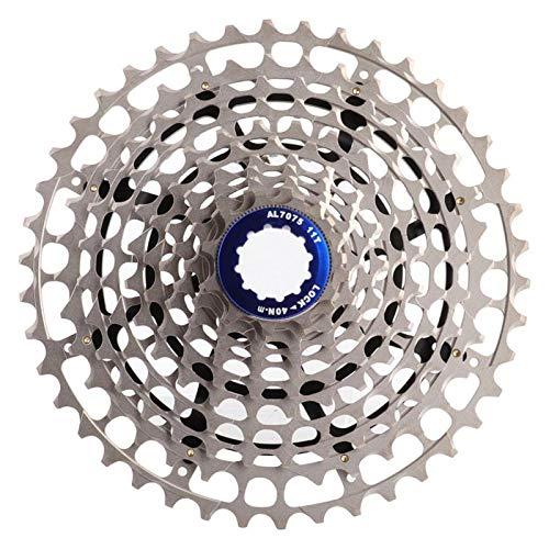 DAUERHAFT Hohe Haltbarkeit Nicht verformbares Fahrrad Freilauf Kassettenrad 11-Gang 42T Fahrrad Ersatzteil, für Rennrad(11-42T)