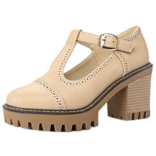 COOLCEPT Zapatos Mujer Primavera Verano Tacon Ancho