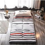 Colchón plegable del piso del futón, Japonés plegable futón plegable roll up plano colchón sofá cama for niños adultos dormir almohadilla de viaje colchón de cama ( Color : D , Tamaño : 150*200cm )