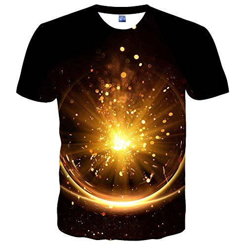 cneWID Unisex-3D-Druck-T-Shirt, kurze Ärmel, coole Grafik-Tees für Damen, Herren XX-Large