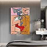 CloudShang Abstrakte Bunte Figur Linie Gesicht Poster Le