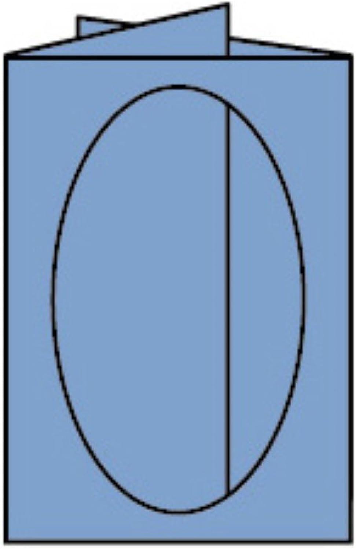 Rössler Papier - - Paperado-5er Pack PP-Karten oval Ft.B6, Dunkelblau - Liefermenge  10 Stück B07CX5YHT4  | Export