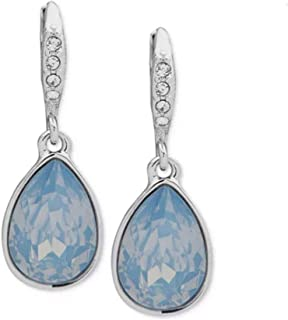 Givenchy Crystal and Stone Medium Drop Earrings Blue