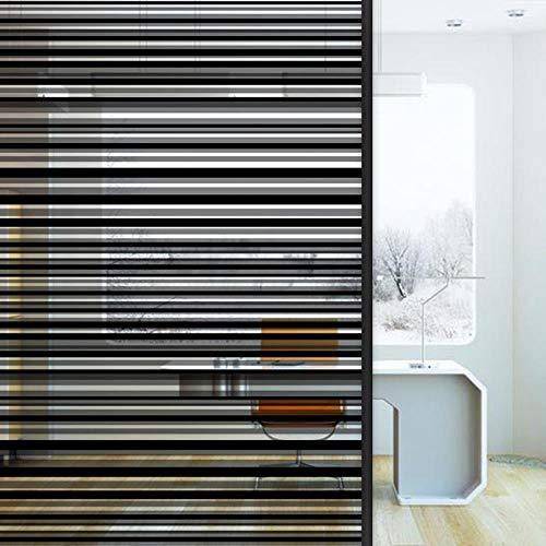 Raamfolie Statische Privacy Decoratie Zelfklevend voor UV-blokkering Warmteregeling Privacy Vinyl Glas Raamsticker, 90x200cm
