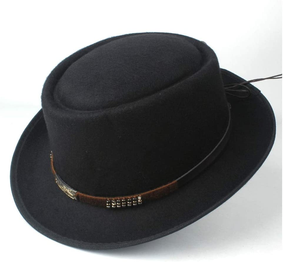 HHHCM-US Fashion Men Women Pork Pie Max 79% OFF Belt Our shop most popular with Hat Tea Party