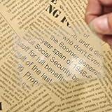 Lupa 10 unids/Set 3X Lupa Transparente con Forma de Tarjeta de crédito lupas de plástico Lupa Fresnel para Libro de Lectura periódico