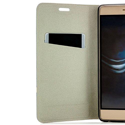 zanasta Tasche kompatibel mit Huawei Nova 2 Plus Hülle Flip Case Schutzhülle Handytasche mit Kartenfach Blau - 4