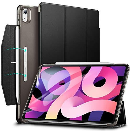 ESR Trifold Hülle kompatibel mit iPad Air 10.9 2020(4.Generation) [Trifold Smart Case] [Standhülle mit Schließe], Schwarz.