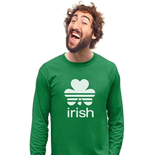 fe19b98f4 Irish Shamrock St. Patrick's Day Clover Men's Long Sleeve ...