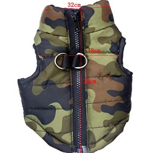 Hunde Baumwolle Gefütterte Weste Kleider Mantel Jacke Kleidung Größe L -camouflage - 6