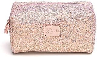 Love, Kenzie Beauty by Mackenzie Ziegler - Girls Cosmetics - Sparkle Pink Glitter Zipper Closure Makeup Bag