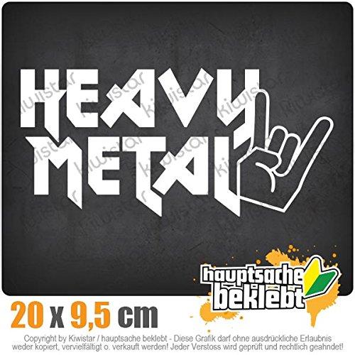 KIWISTAR Aufkleber - Heavy Metal Hardcore Trash Guitar Drums - Autoaufkleber Sticker Bomb Decals Tuning Bekleben