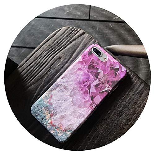 Moda púrpura hielo arte teléfono caso para iPhone 7 8 6s 6 plus X mate todo incluido duro shell para iPhone 7 caso contraportada, púrpura, para iPhone 7