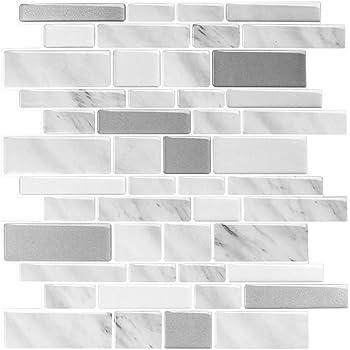 10 Tiles Anti Mold Peel And Stick Tile Sticker Kitchen Bedroom Bathroom Decals
