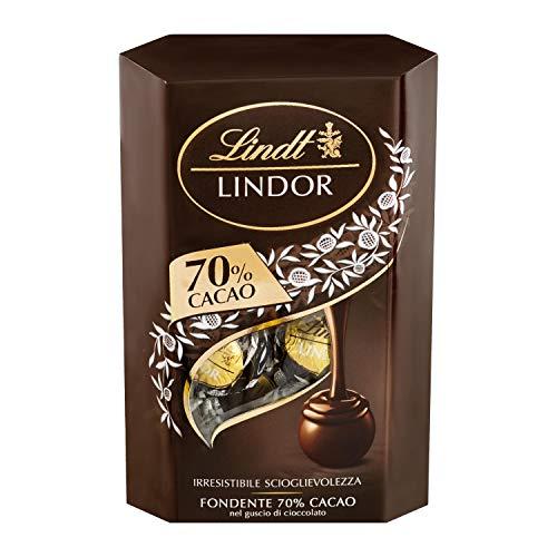 Lindt Cornet Lindor 70% Cacao, Circa 16 Praline, 200g