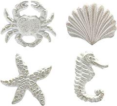 VOSAREA 4 stuks kastknoppen zeestervorm maritieme decoratieve meubelknoppen ladeknoppen deurknoppen deurknoppen meubelgrep...