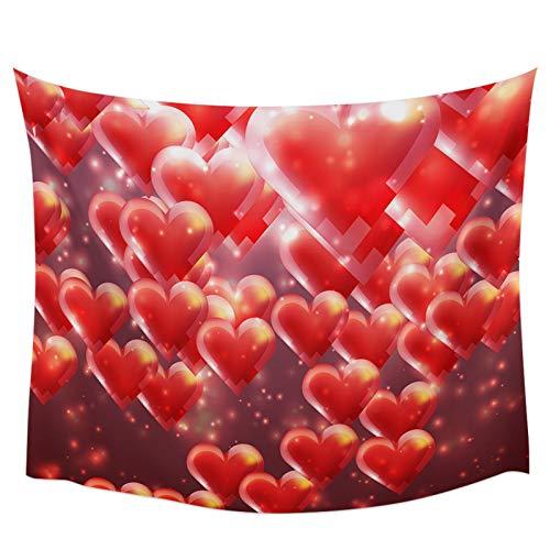 Bdhbeq Amor Globo gradiente Tapiz de Pared decoración de la Pared del hogar Dormitorio Tapiz Colgante de Pared Yoga Mat Picnic mat130x150cm