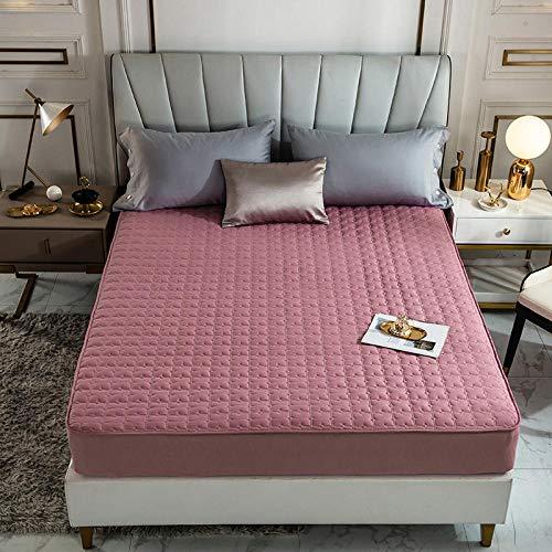 CYYyang Protector de colchón, algodón, poliéster, Una Sola Pieza de Funda Protectora de Color Puro para sábana-10_120 * 200cm