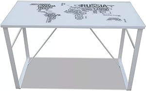 vidaXL Scrivania Rettangolare Modello Mappa Scrittoio Tavolo Lavoro Porta PC
